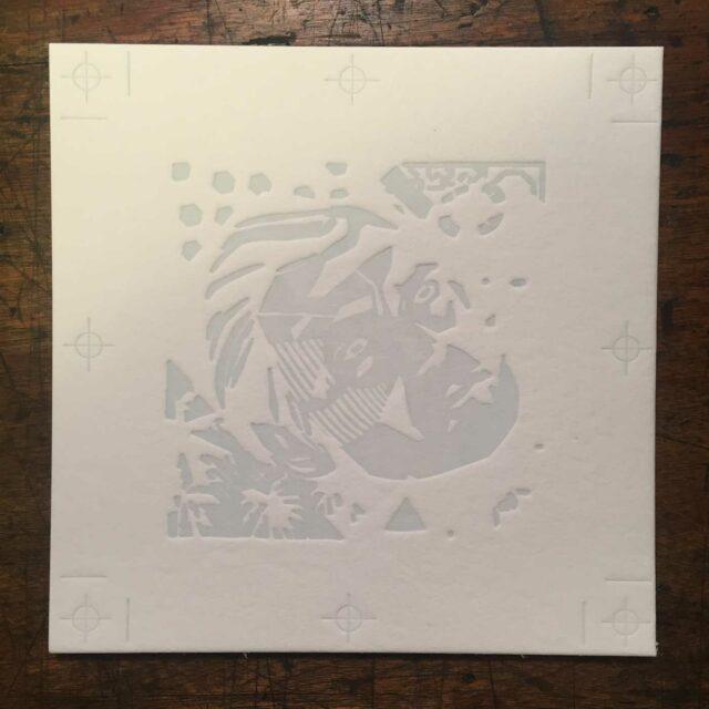 Letterpress coaster plate