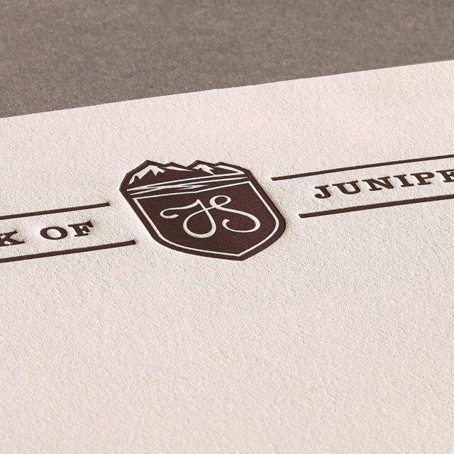 Letterpress letterhead logo