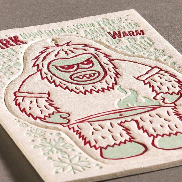 Letterpress coaster design